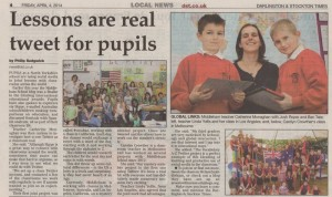 From the Darlington and Stockton Times, Friday 4th April.